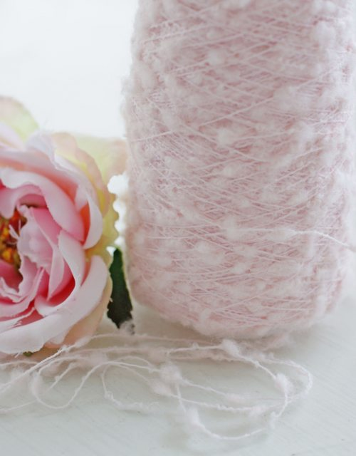 Very light Pink Mohair Yarns