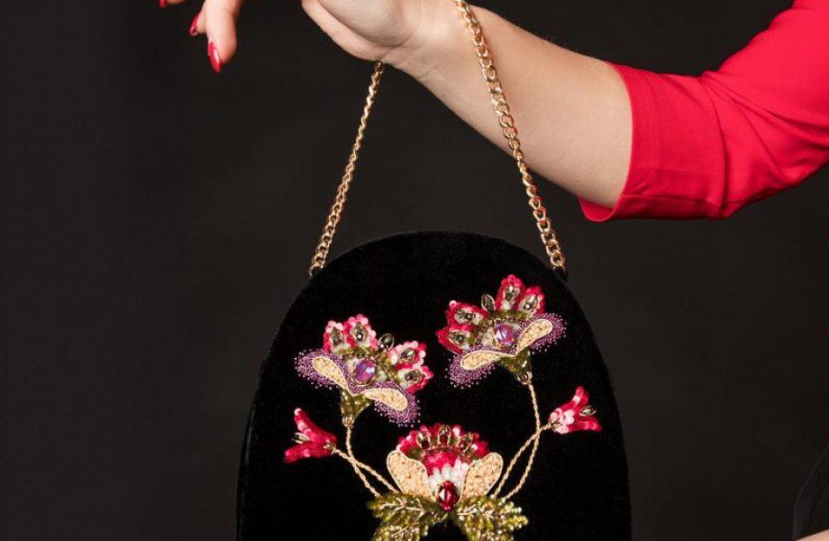 """Handmade stylish bag """"Crewel"""""""