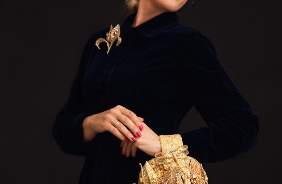 "Exclusive Handmade stylish bag-bracelet ""Tullip"""