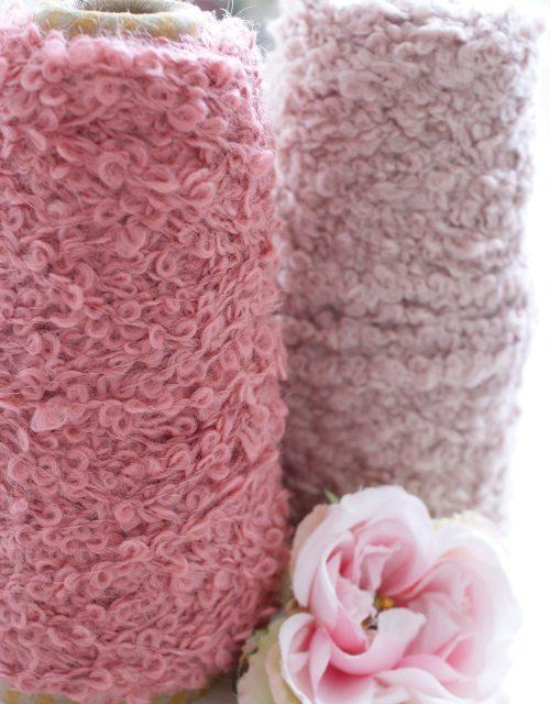 Old Rose color Buckle Yarns