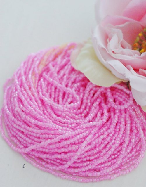 3 x 3 cut Pink Crystal Beads