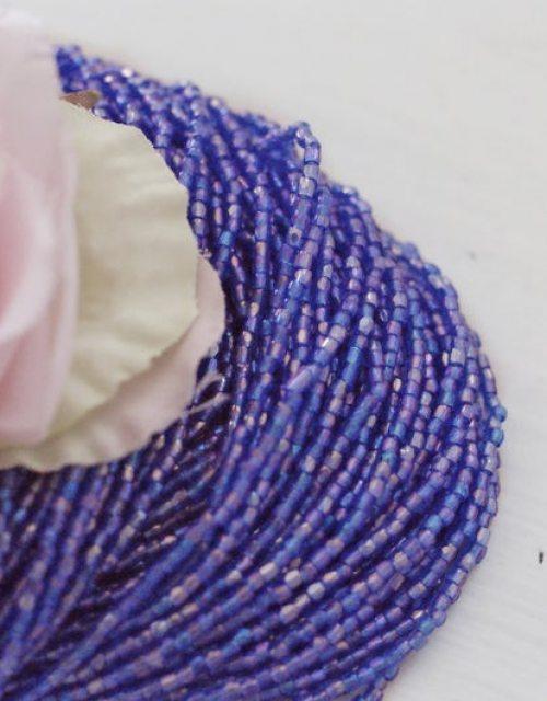 3 x 3 cut Sapphire Transparent Rainbow Beads