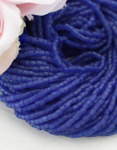 3 x 2 cut Mat Blue color Beads