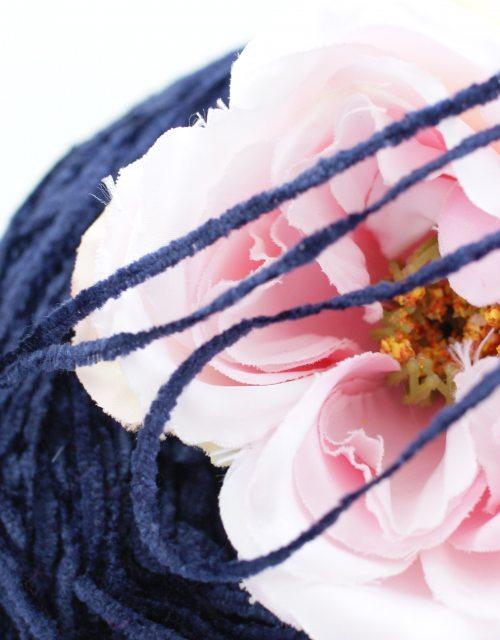 Dark Blue color Chenille Thread