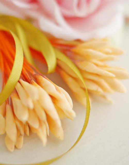 DIY Peach color Flower stamen - Flower Peps