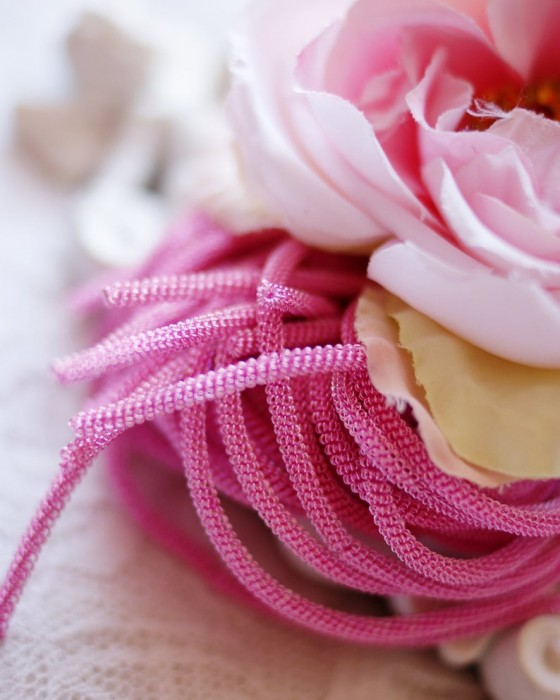 Pink color Double twisted wire 20 gr