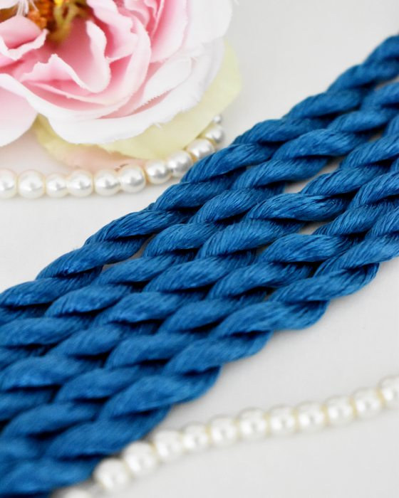 Admiral color Non-Twisted Flat Silk Embroidery Thread