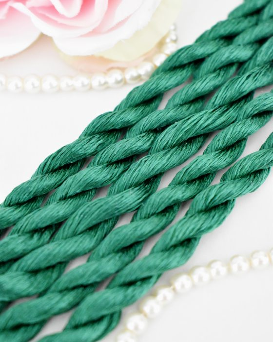 Fern green color Non-Twisted Flat Silk Embroidery Thread