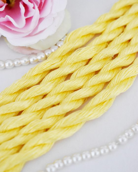 Fresh yellow color Non-Twisted Flat Silk Embroidery Thread