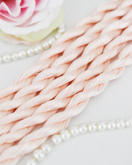 Misty Pink color Non-Twisted Flat Silk Embroidery Thread