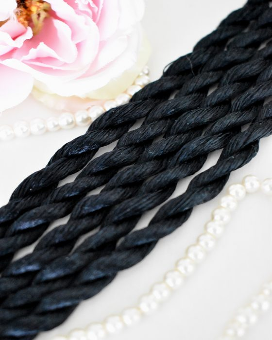 Dark navy blue color Non-Twisted Flat Silk Embroidery Thread