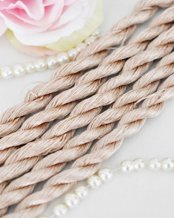 Latte color Non-Twisted Flat Silk Embroidery Thread