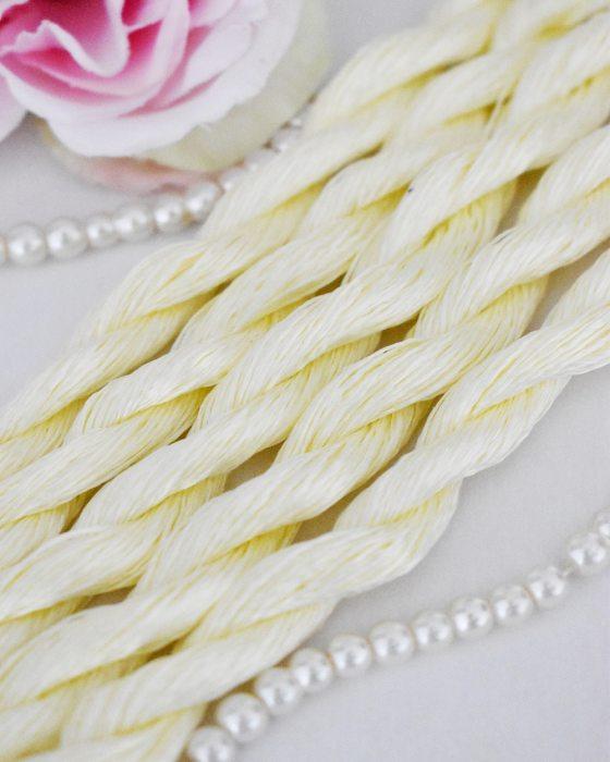 Lemon shiffon color Non-Twisted Flat Silk Embroidery Thread