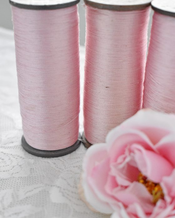 Vintage Pure Silk Thread Light Pink Color
