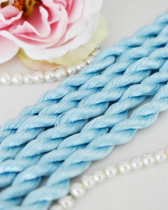 Dark sky color Non-Twisted Flat Silk Embroidery Thread