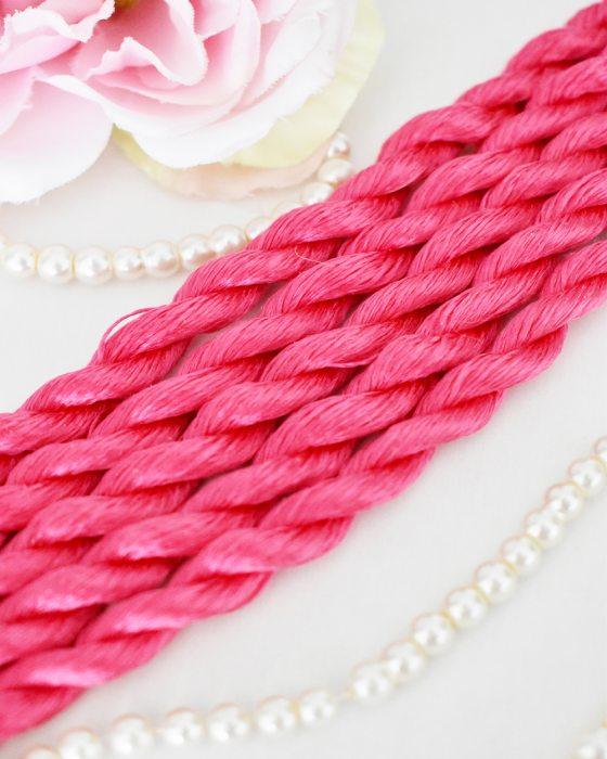 light fuchsia color Non-Twisted Flat Silk Embroidery Thread