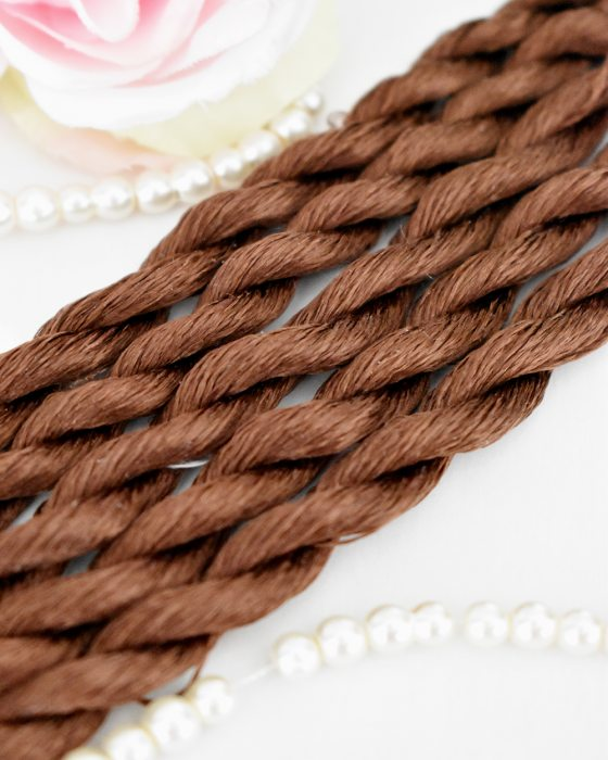 Walnut color Non-Twisted Flat Silk Embroidery Thread