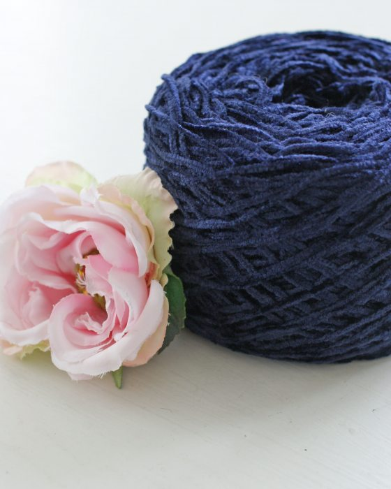 Dark Blue color Chenille Thread