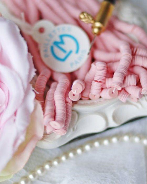 Glossy Porcelain Pale Pink color Flat 3mm