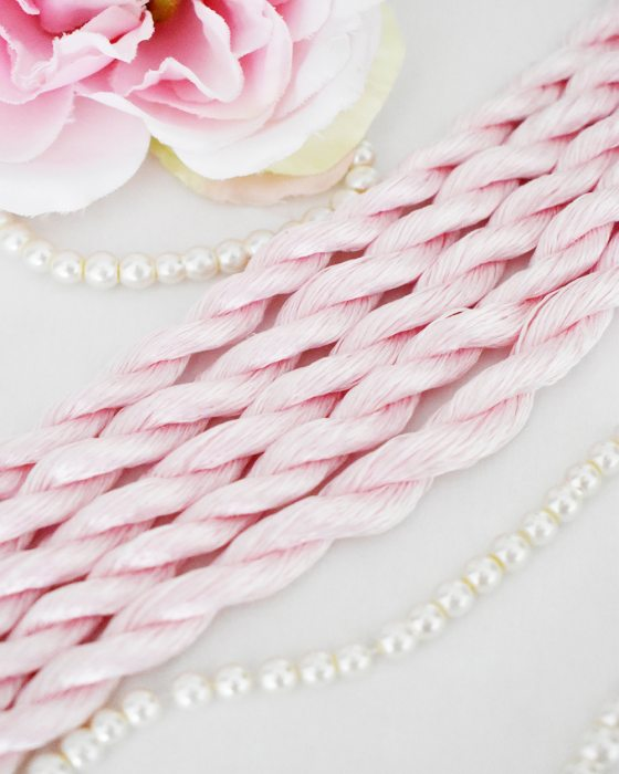 Very light pink color Non-Twisted Flat Silk Embroidery Thread