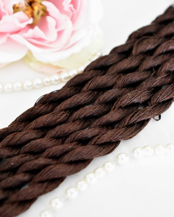 Chocolate color Non-Twisted Flat Silk Embroidery Thread