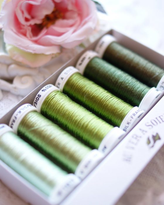 Green color Pack 6 shades Soie Ovale