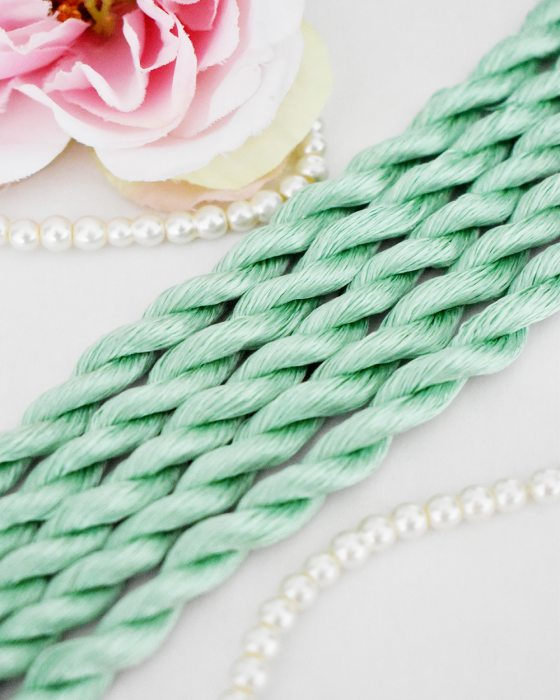 Meadow color Non-Twisted Flat Silk Embroidery Thread