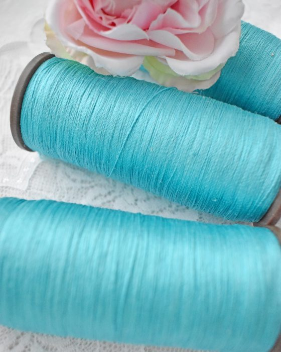 Vintage Pure Silk Thread Turquoize Color