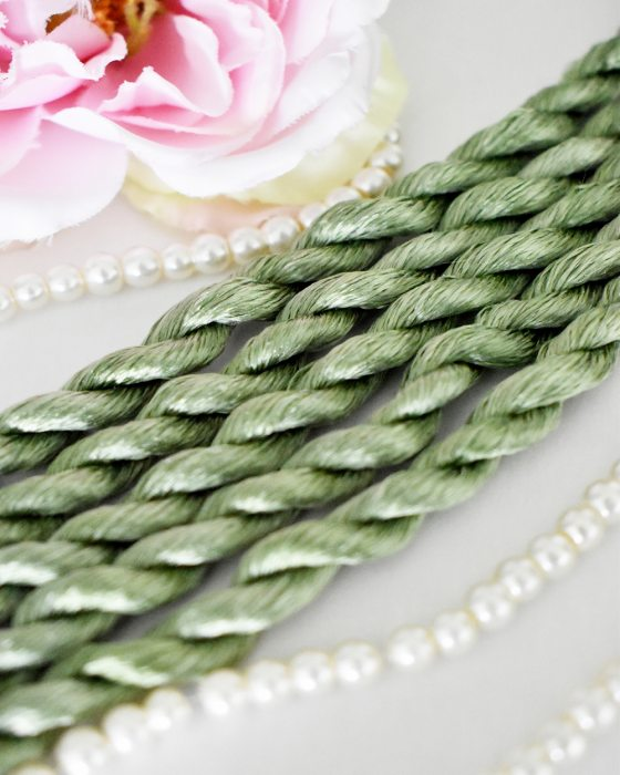 Almond color Non-Twisted Flat Silk Embroidery Thread