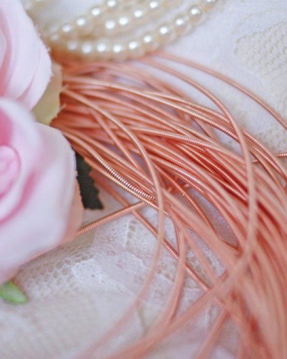 Rose Gold color Circular Purl
