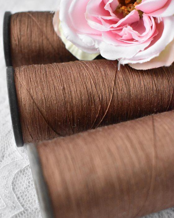 Vintage Pure Silk Thread Caramel Color