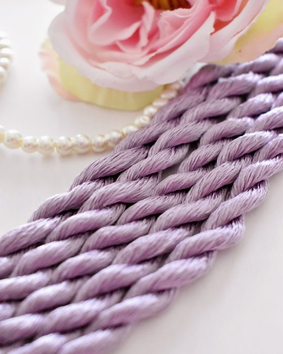 Purple color Non-Twisted Flat Silk Embroidery Thread
