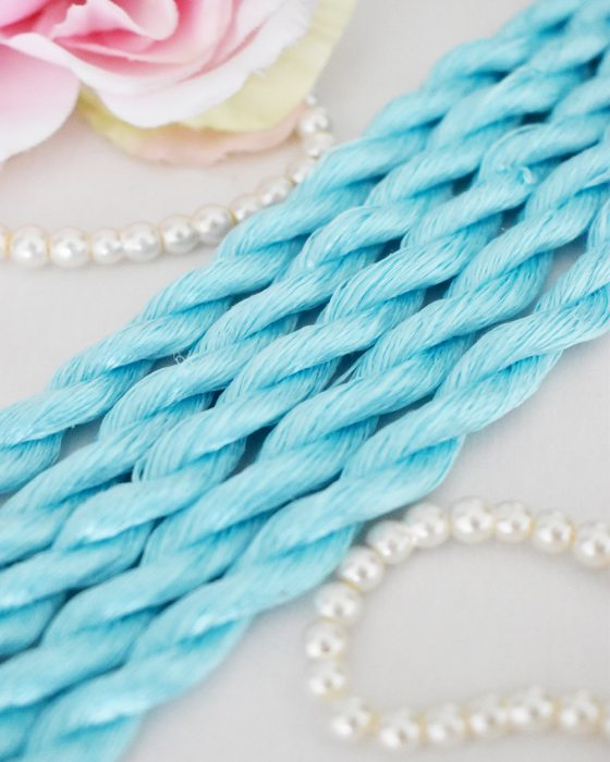 Arctic color Non-Twisted Flat Silk Embroidery Thread