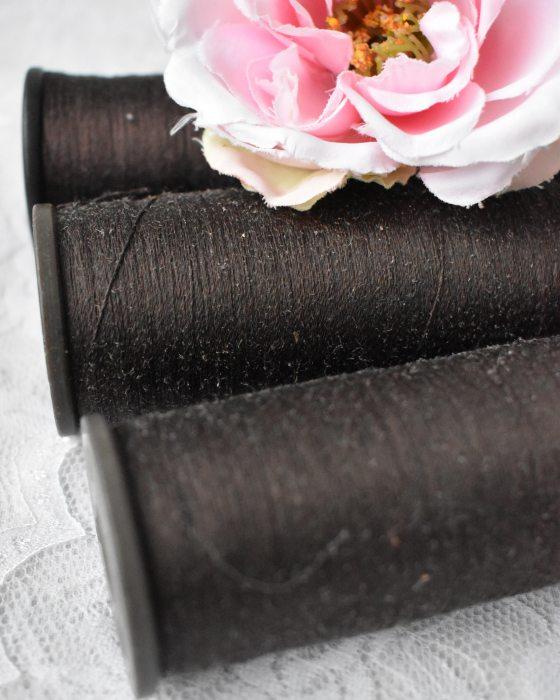 Vintage Pure Silk Thread Umber Color