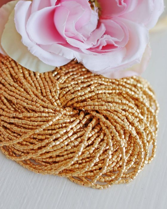 3 x 3 cut Gold Beads