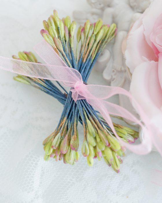 DIY Light Green/Pink color Flower stamen - Flower Peps