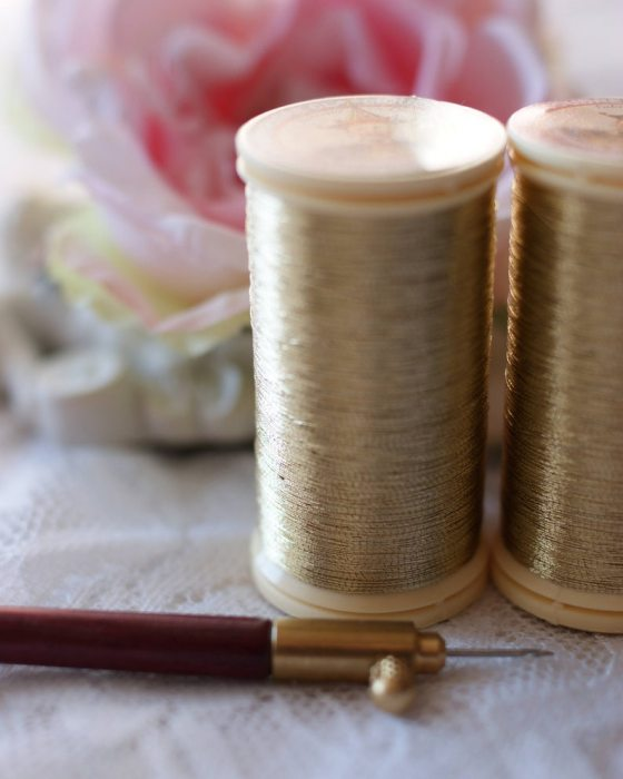 Sajou Metallic Thread Gold color