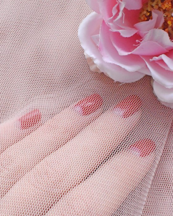 Venice Pink color soft Tulle Fabric