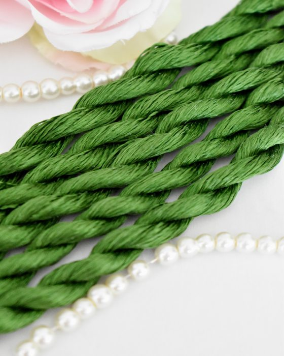 Forest color Non-Twisted Flat Silk Embroidery Thread