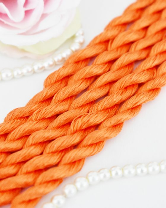 Orange color Non-Twisted Flat Silk Embroidery Thread