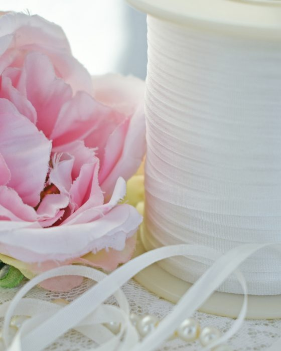 Undyed Embroidery Silk Ribbon 4mm