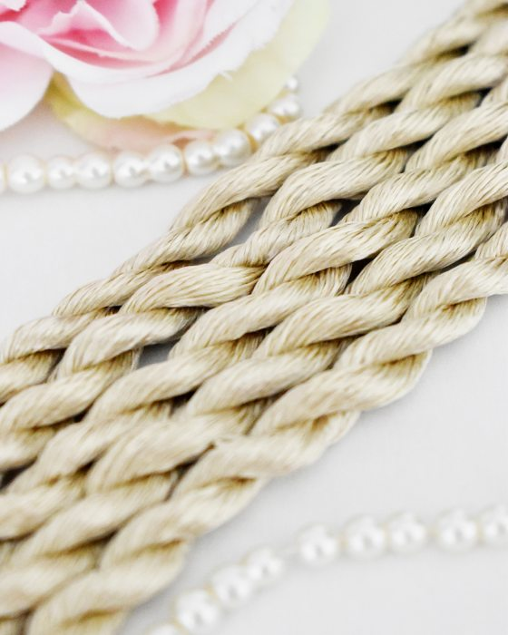 Silky Brown color Non-Twisted Flat Silk Embroidery Thread