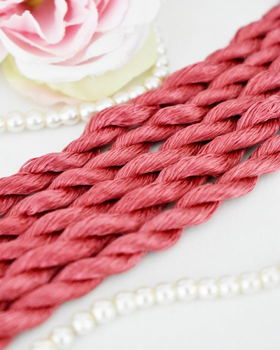 Punch color Non-Twisted Flat Silk Embroidery Thread