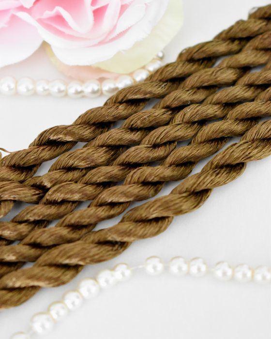 Bistre color Non-Twisted Flat Silk Embroidery Thread