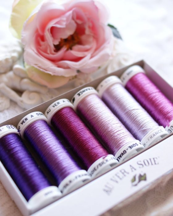 Purple color Pack 6 shades Soie Ovale