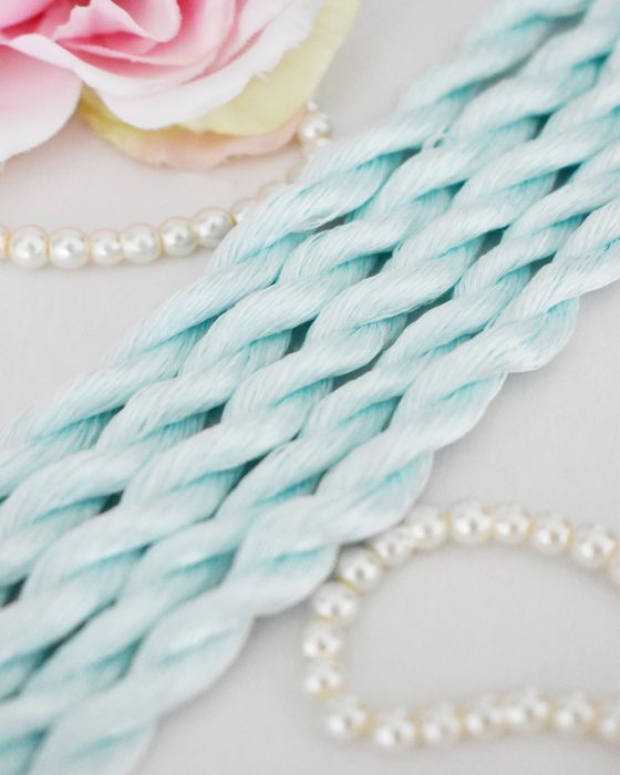 Baby Blue color Non-Twisted Flat Silk Embroidery Thread