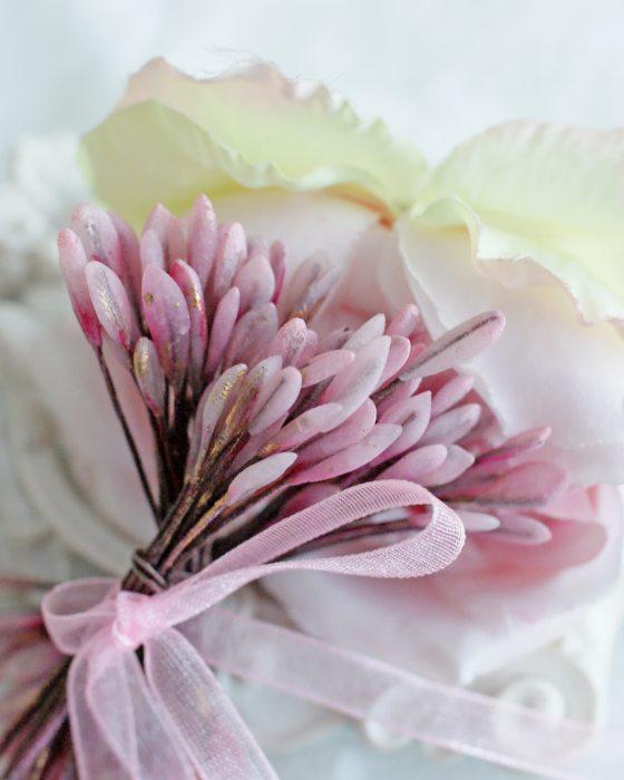 DIY Vintage Pink color Flower stamen - Flower Peps