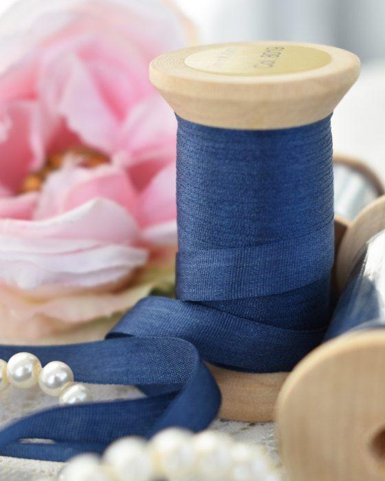 Embroidery Silk Ribbon Dark Blue Color 4mm (8019)