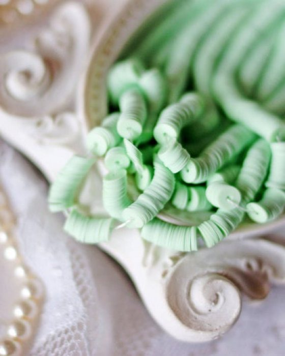 Porcelain Light Green Color Flat 4mm