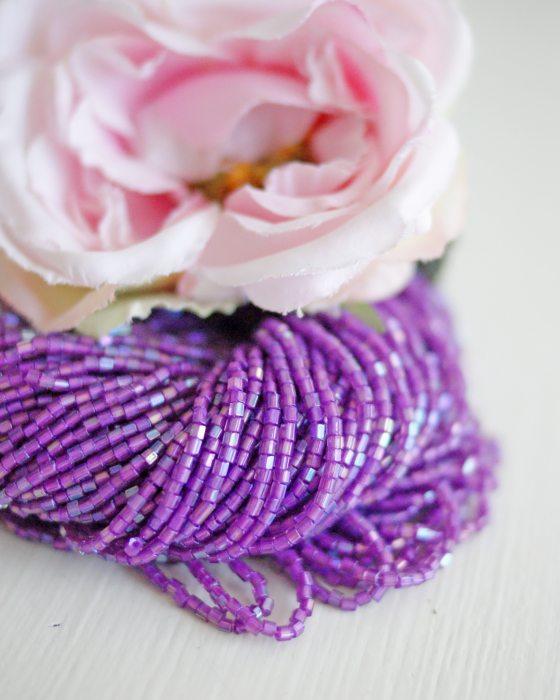 3 x 2 cut Lilac AB color Czech beads